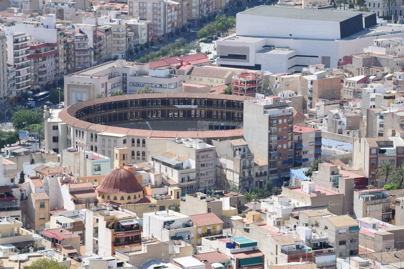 Alicante Architecture Arene Building Exterior Built Structure Bullring City Cityscape Corrida Day One Person Outdoors People Real People Residential Building Taureaux Toros
