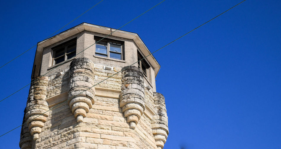 Historical abandoned prison guard tower