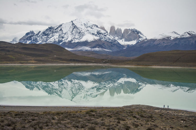 Laguna Amarga, Torres del Paine National Park, Patagonia, Chile Beauty In Nature Hiking Lake Landscape Mountain Nature Outdoors Scenics Snowcapped Mountain Torres Del Paine Torres Del Paine Mountains, Torres Del Paine National Park Tranquil Scene Water Winter