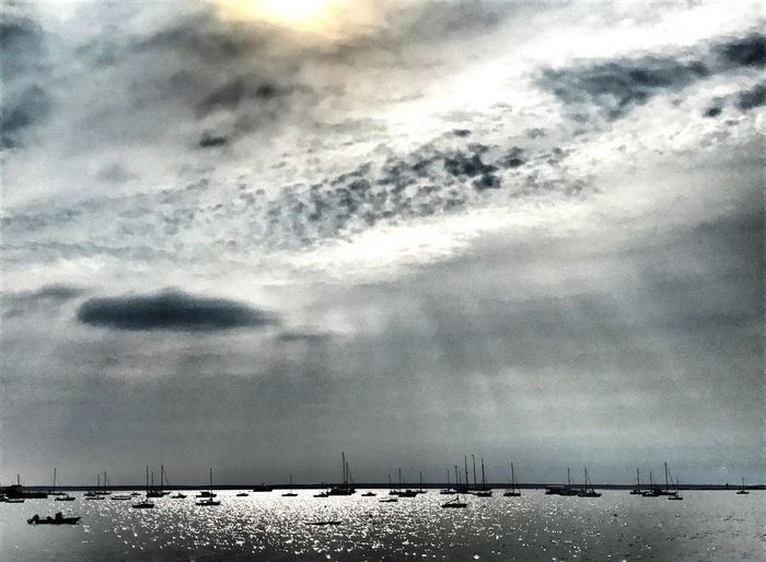 Cloud - Sky Nature Tranquility Beauty In Nature Water Sea Nautical Vessel snapseed drama and EyeEm urban editing Morning Scene In Provincetown