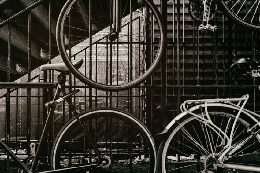 Vintage Bicycles Architecture Bicycle Built Structure City Close-up Day In A Row Land Vehicle Metal Mode Of Transportation No People Outdoors Parking Railing Safety Spoke Stationary Transportation Travel Waste Wheel HUAWEI Photo Award: After Dark HUAWEI Photo Award: After Dark EyeEmNewHere