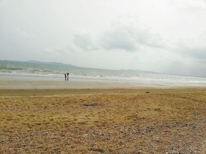 Water Sea Full Length Wave Beach Sand Standing Sky Horizon Over Water Cloud - Sky Seascape Coastline Lightning Rocky Coastline Sandy Beach