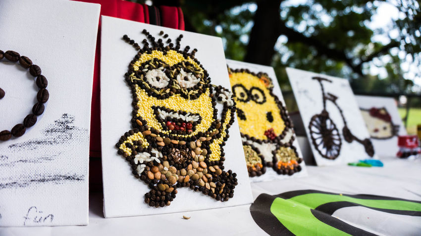 Art And Craft ArtWork Kids Work Minion  Minions No People Outdoors Painting Young Artist