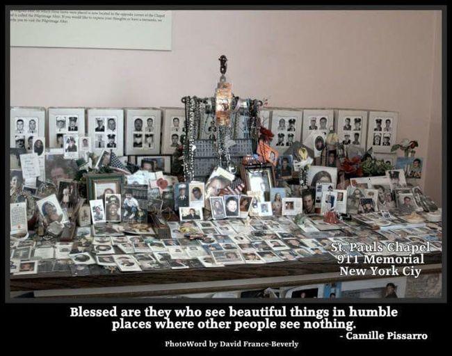 Humble things 911 Memorial... 911 Memorial St.Pauls Church Manhattan New York