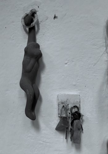 Mono desnudo, mexican handcraft, monkey, keys, ceramic,
