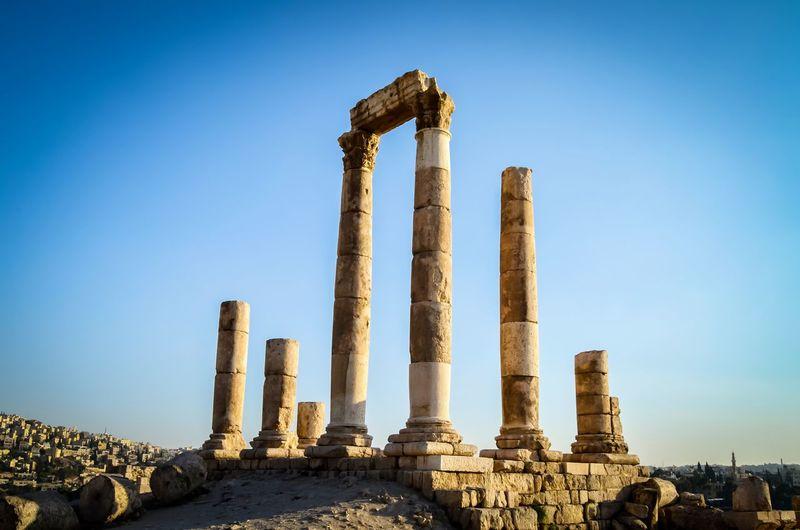 Temple of hercules in amman, jordan