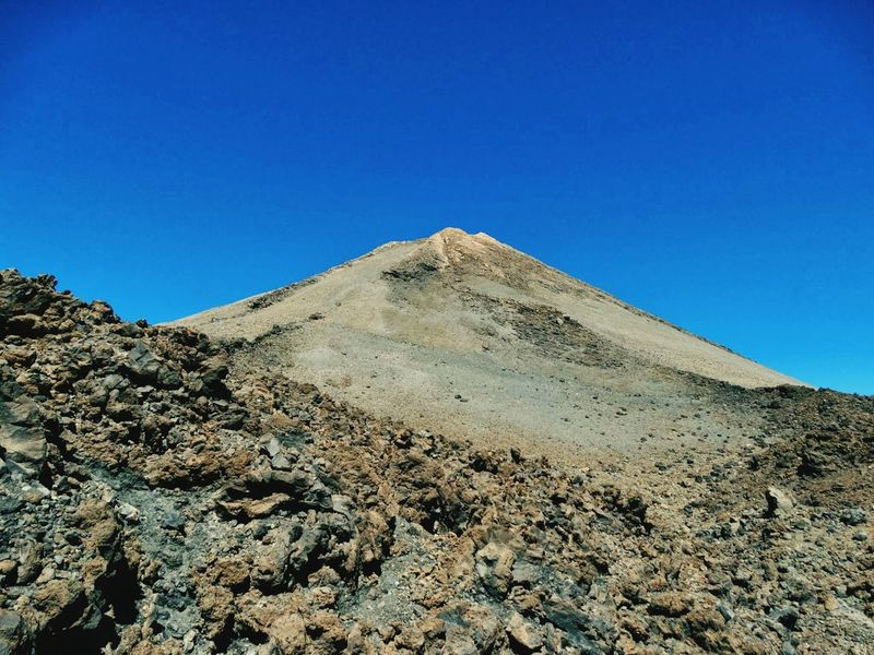 Clear Sky Nature Sand Blue Landscape Desert Sand Dune Outdoors Sunny Day Arid Climate Sky Scenics No People Accidents And Disasters Travel Destinations Mountain Beauty In Nature Volcano El Teide Lunar Landscape El Teide National Parc Tenerife Volcanic Landscape El Teide, Tenerife  The Great Outdoors - 2017 EyeEm Awards