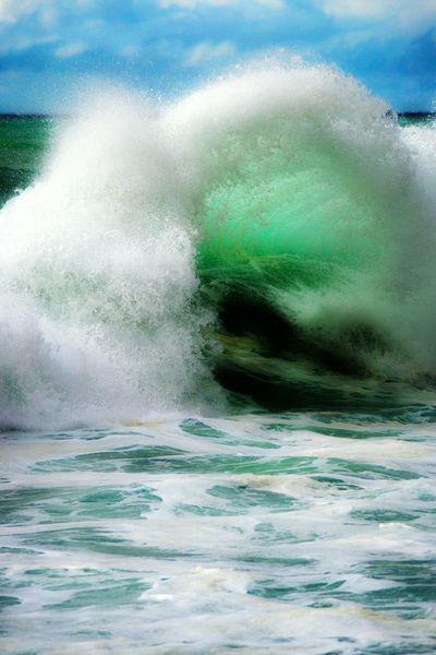 808Hi Shore break Beach Ocean❤ Water Hawaii Wave Outdoors Saltwater Rough Backwash Island