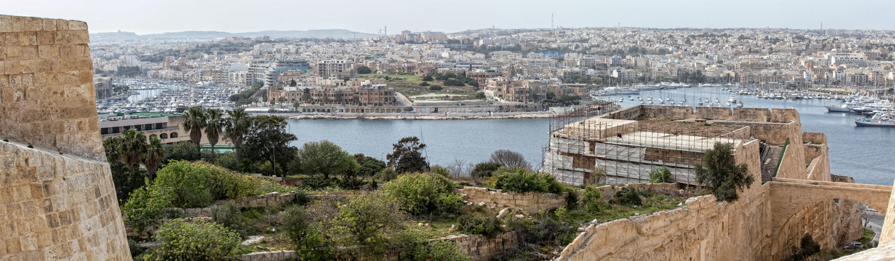 Valletta,Malta Ancient Architecture Building Exterior Built Structure City Cityscape Day Grand Harbour History Nature No People Outdoors Sky Travel Destinations Tree Valletta Water