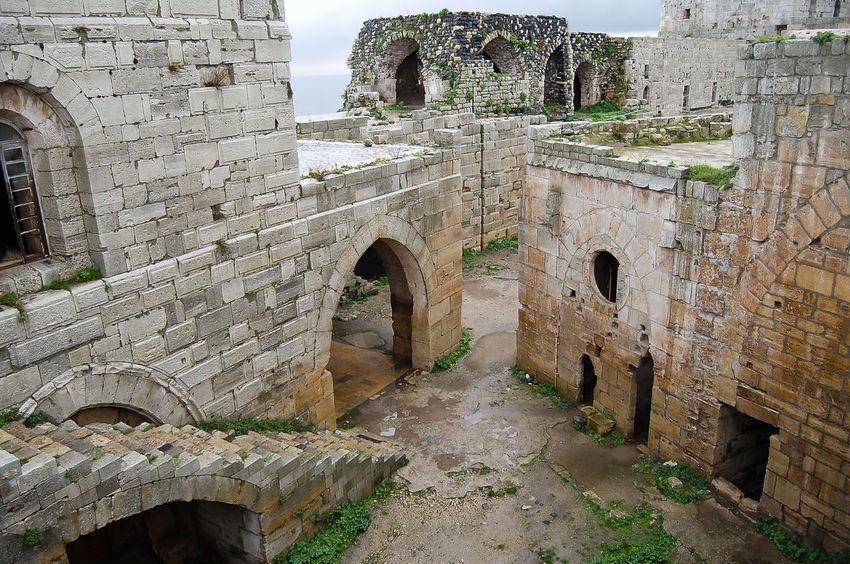 Krak des Chevaliers Castle - Syria Castle Chevaliers Syria  Built Structure Crac Du Chevalier Krak Des Chevaliers Medieval Old
