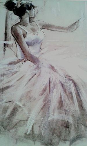 One Woman Only Portrait Of A Woman Paint People óleo Balerina