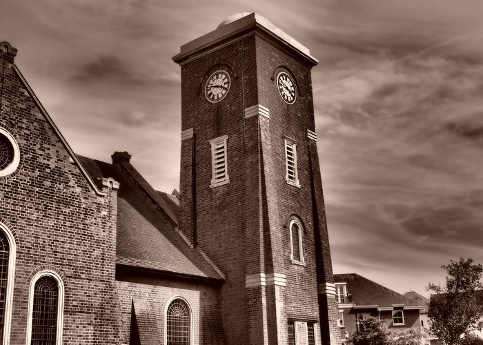 Frinton Church Architecture Bell Tower Building Exterior Built Structure Church Tower Clock Clock Towers Cloud - Sky Day Low Angle View Moody Sky Atmospheric Mood No People Outdoors Place Of Worship Religion Sky Spirituality Threatening Sky Uk Seaside Town