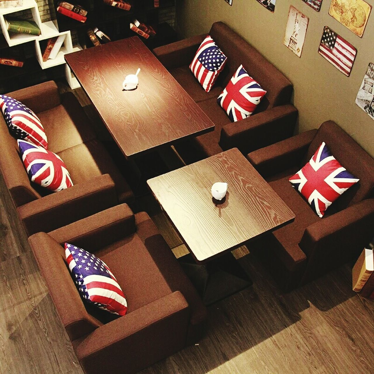 flag, patriotism, pride, striped, indoors, table, stars and stripes, democracy, wood - material, no people, citizenship, voting, day