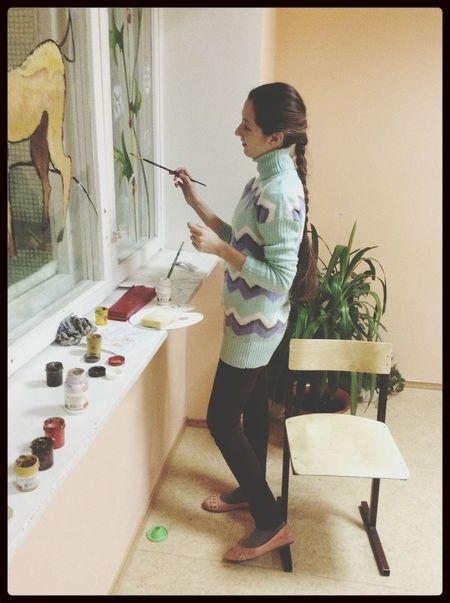 Relaxing Me рисуем  окно окн