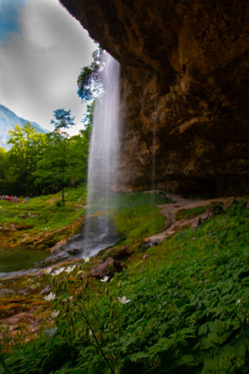 beautiful fontanone di goriuda EyeEm Best Shots EyeEm Nature Lover Beauty In Nature Blurred Motion Environment Flowing Flowing Water Forest Land Long Exposure Moss Motion Nature No People Outdoors Plant Power In Nature Purity Rock Rock - Object Scenics - Nature Solid Tree Water Waterfall