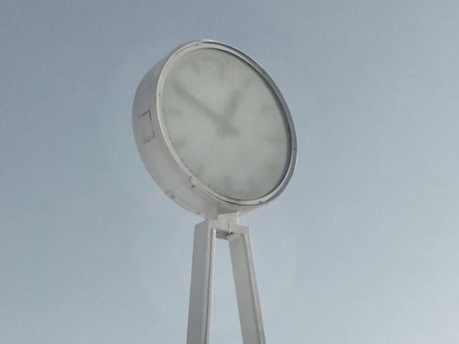 airport clock Circle Clock Modern No People Round Simplicity Single Object Station Clock Technology Tempelhofer Feld Tempelhoferfeld Tempelhoferpark Uhr