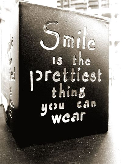 Smile Quotes Lantern Interior Design Light Black & White Black And White Blackandwhite Inspirational Quote