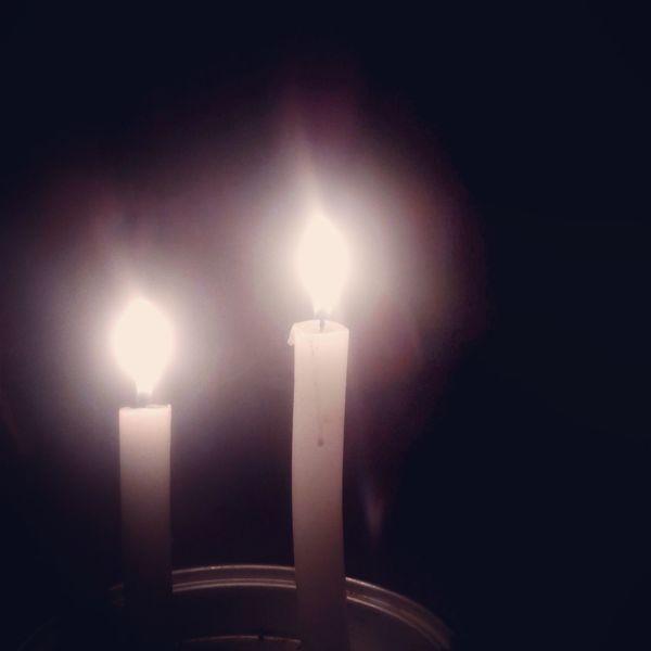 Soft light. Candlelight