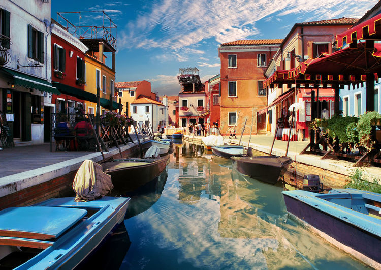 Architecture Building Building Exterior Built Structure Canal City Cloud - Sky Day Fishing Boat Harbor Marina Mode Of Transportation Moored Nature Nautical Vessel No People Outdoors Reflection Sky Transportation Travel Destinations Water