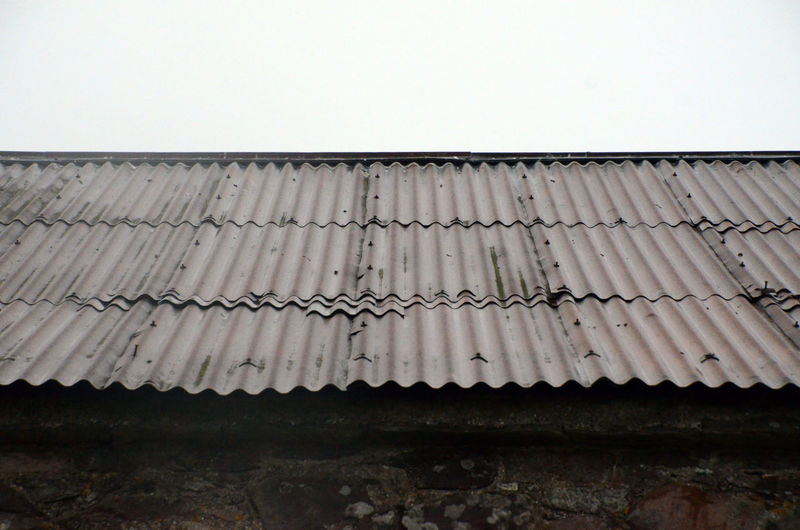 Built Structure Corrugated Repetition Roof Wet Roof