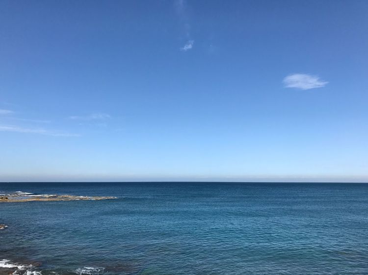 View from the office. Blue Mediterranean  Sea Nofilter Breathing Space