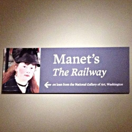 Manet's The railway on exhibit from The national gallery of art in Washington DC Night At The Museum Getting Inspired Exhibition (null)