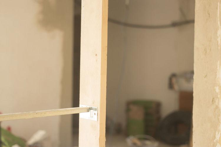 Close-up of door of building