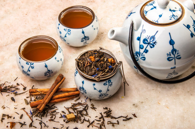 Herb tea scene,