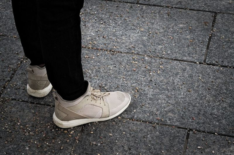 Close-up Day Feet Human Leg Low Section Men One Person Outdoors People Real People Shoe Shoe Standing Standing Standing On Spot Swag