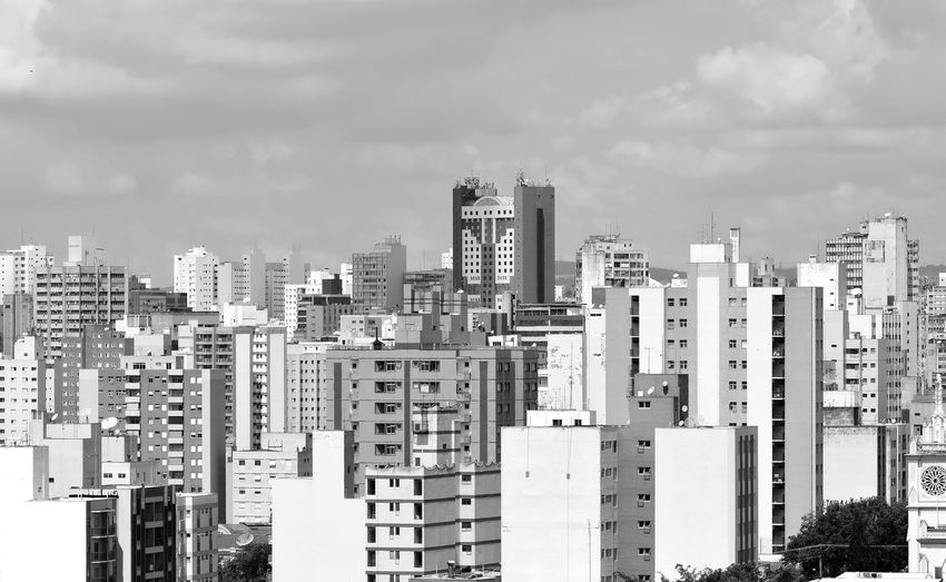 Cistyscape in black and white Campinas, São Paulo, Brasil Architecture Building Exterior Built Structure City Cityscape Day Downtown District Modern No People Outdoors Sky Skyscraper Tall Urban Skyline