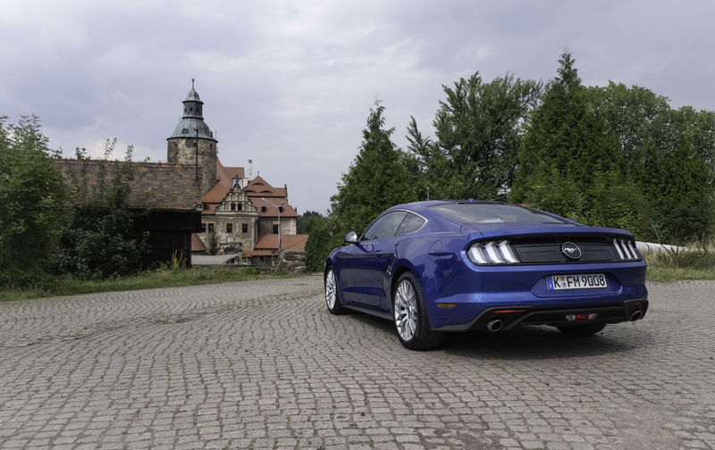 Ford Ford Mustang Mustang Architecture Building Building Exterior Built Structure Car City Cloud - Sky Day Land Vehicle Mode Of Transportation Motor Vehicle Nature No People Plant Road Sky Street Transportation Tree