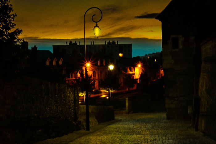 Atmosphere Auvergne Auvergne Village France Auvergne Vulcany France Auvergne-Rhône-Alpes Riom Riom One Of Most Beautiful Village Of France Villages Villages Photographie Ambiance Ambiance Du Soir Architecture Atmospheric Sky Auvergne France Building Exterior Built Structure Illuminated Light And Shadow Lights In The Dark Lumière Du Soir Lumières De Nuit Night No People Outdoors Sky