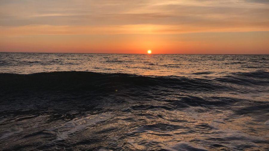 ❤️🧡 Sunset Sky Sea Water Beauty In Nature Horizon Over Water Scenics - Nature