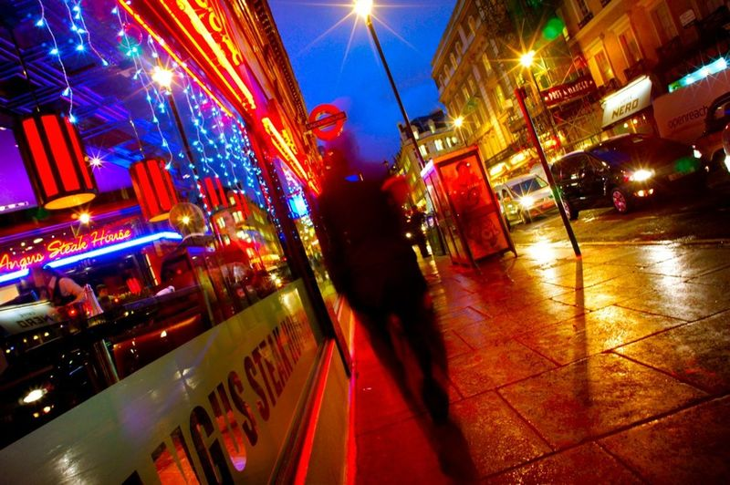 City City Life City Street Illuminated Neon Night Nightlife Outdoors People Speed Travel Destinations