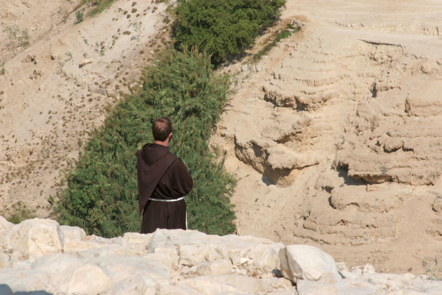 Monk in Judea desert, Israel Canyon Christianity Cliff Desert Faith Franciscan Israel Judea Men Middle East Monk  Mountain Nature Palestine Religion Rock Sand Sandstone Stone Valley Wilderness