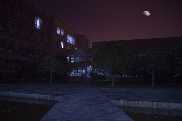 Nightlife Building Exterior Moon