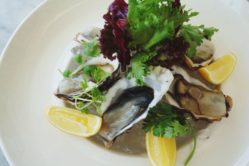 Food And Drink Freshness Food Oyster  Seafoods Dinner Plate Ready-to-eat Close-up Healthy Eating