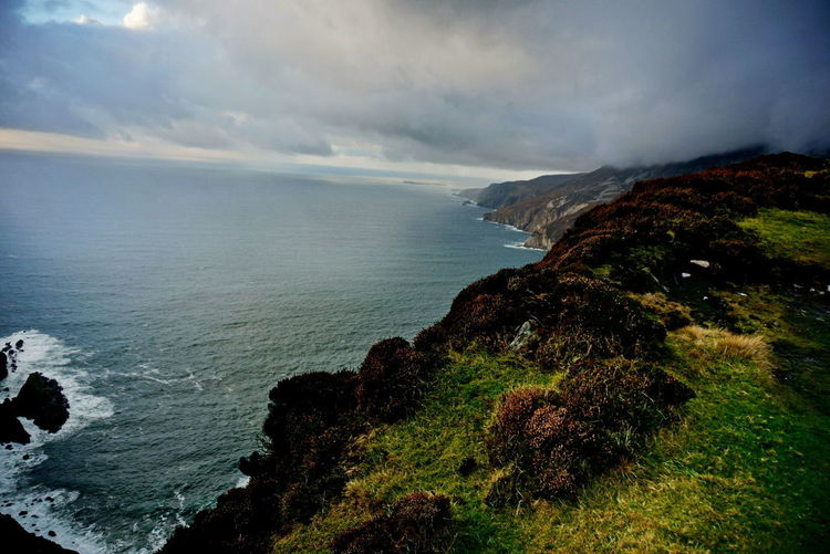 Ireland🍀 NEX-5T Beauty In Nature Cliff Day Horizon Over Water Nature No People Outdoors Rock - Object Scenics Sea Sky Sony Tranquil Scene Tranquility Water