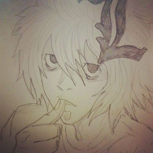 Old sketch of L L Anime DeathNote Art Sketch FavoriteAnime