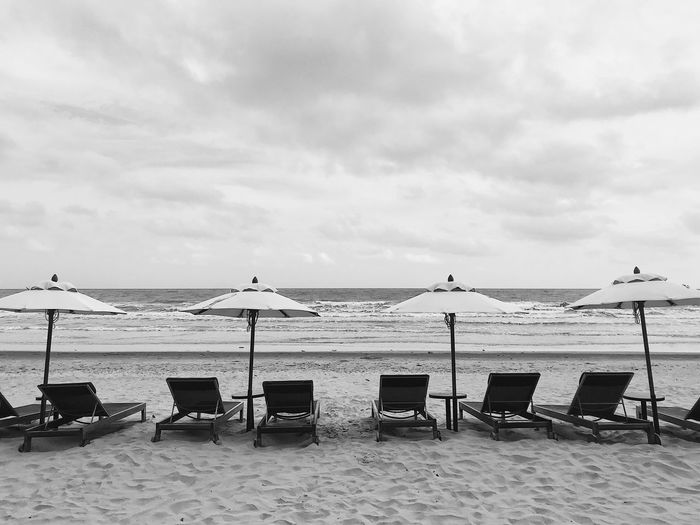 IPhoneography IPhone7Plus VSCO Sky Water Beach Cloud - Sky Sea Nature Chair