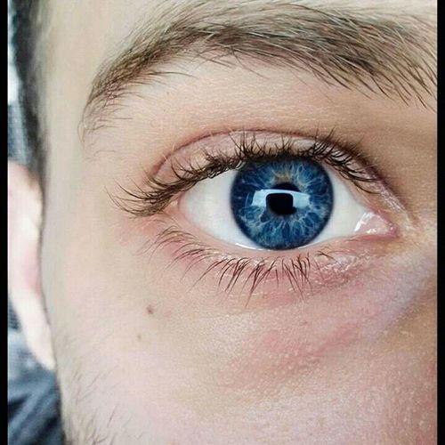 Face Eye Blue Eye Close-up Macro Self Shot Man Eye Self Portrait