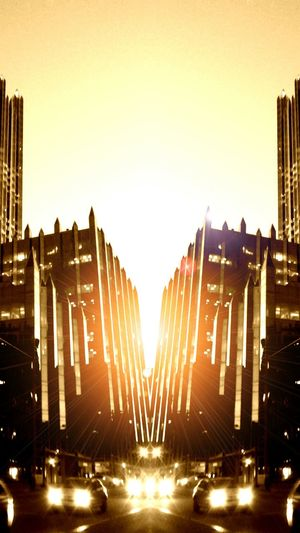 Symmetrical Solarism Symmetrical Downtown PittsburghSunset Sunrise