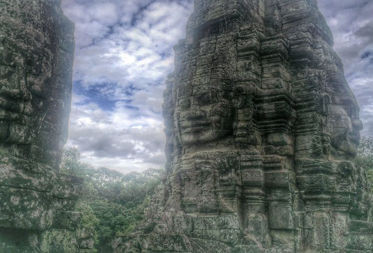 Bayon temple, Siem Reap Taking Photos Traveling Clouds And Sky Architecture