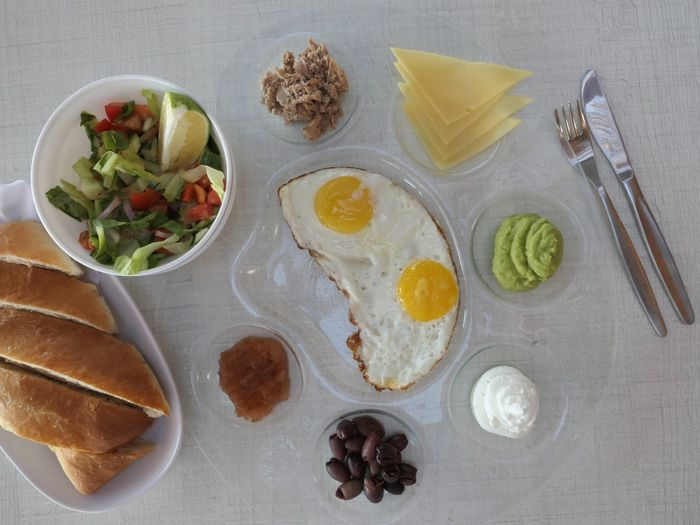 Breakfast Food Food And Drink Healthy Eating Freshness Table Eating Utensil Ready-to-eat Still Life Wellbeing Meal Plate Directly Above No People