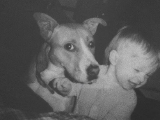 My baby and his girl. Pets One Animal Animal Themes Mammal Dog Close-up Domestic Animals Indoors  One Person Day Living Room Indoors  My Son ❤