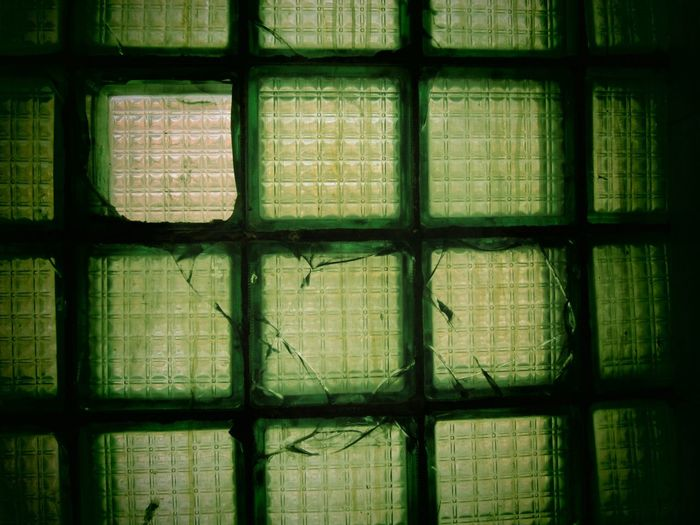 Glass Pattern Composition Green Color