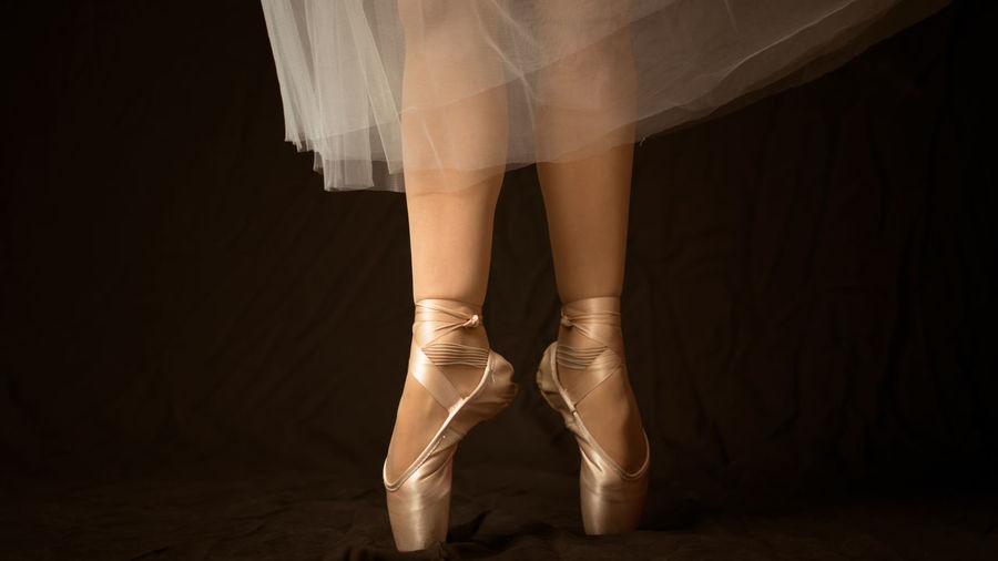 Low section of ballet dancer