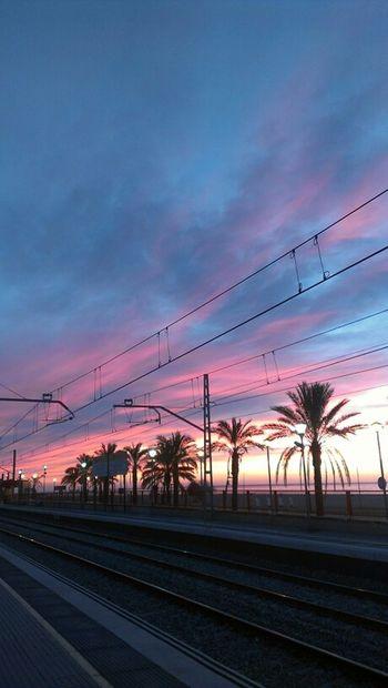Clouds Sunrise Public Transportation