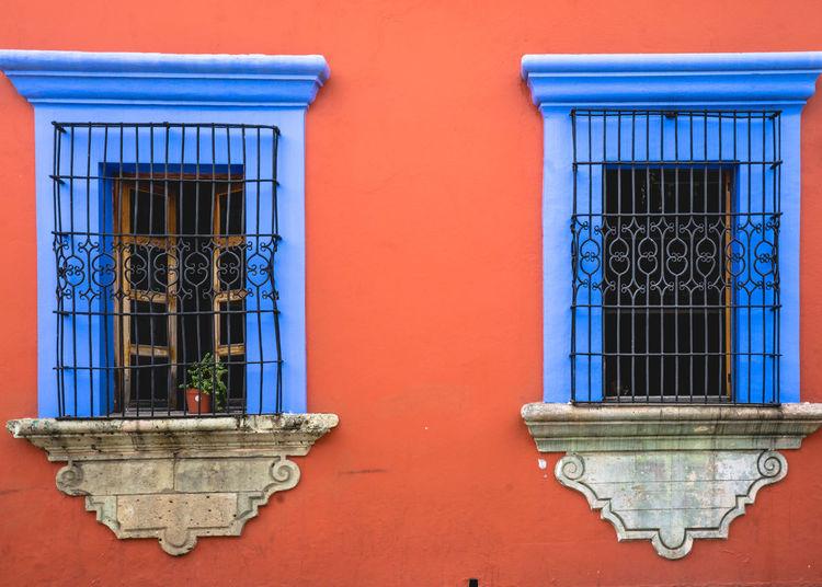 Blue Windows Of House