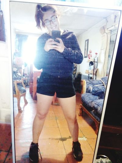 To work! That's Me Gym Ejercicios<3 Today's Hot Look Hotpants Chileangirl